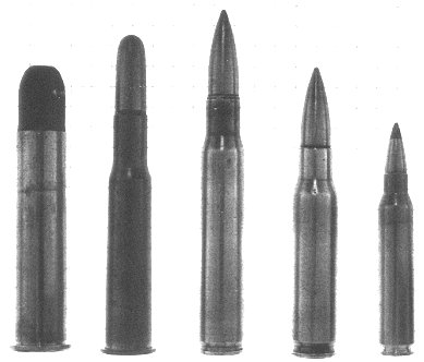 rifle bullet calibers. US rifle caliber cartridges